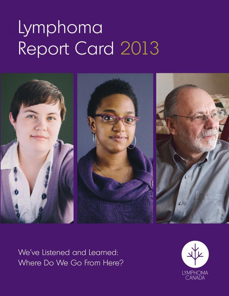 Lymphoma Canada's 2013 Lymphoma Report Card Cover
